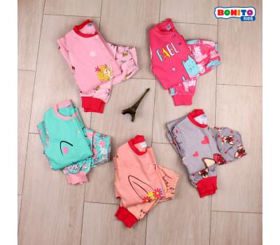 Пижама для девочек с начесом (7-10 лет)