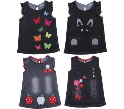 Джинсовые платья (2-5 лет)