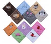 Полотенце махровое с уголком для малышей