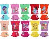 Футболка и шорты для девочек (1-4 года)