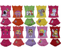 Фуфайка (футболка) и шорты для девочек (1-4 года)
