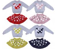 Комплект для девочек (юбка и кофта) (2-5 лет)