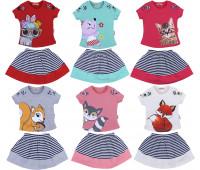 Кофта и юбка для девочки (2-6 лет)