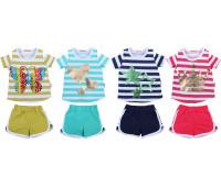 Футболка и шорты для девочек (3-7 лет)