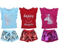 Футболка и шорты для девочек (2-5 лет)