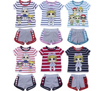 Футболка и шорты для девочек (2-6 лет)