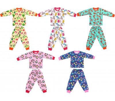 Пижамы трикотажные для девочек (2-6 лет)