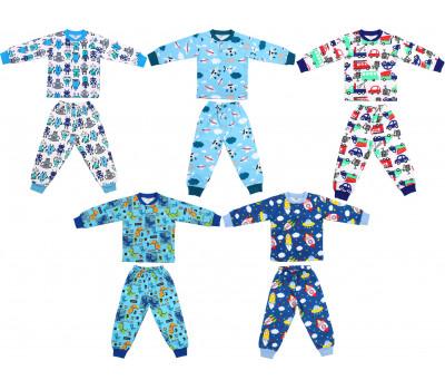 Пижамы трикотажные для мальчика (2-6 лет)
